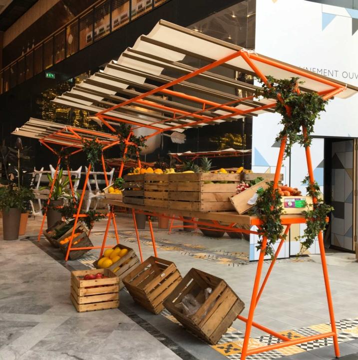 halle gourmande, centre commercial, Vélizy 2, marché, Unibail-rodmaco-Westfiels